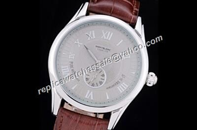 Montblanc 1858 Limited Edition Manual Small Second Silver SS Watch Replica