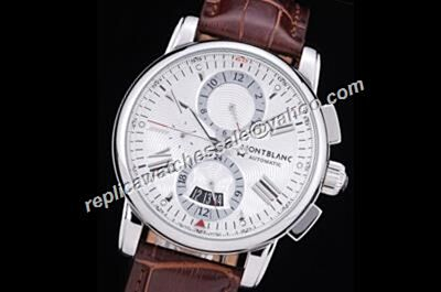 Montblanc 4810 Chronograph Ref U0102378 Men's White Gold Date Auto Watch