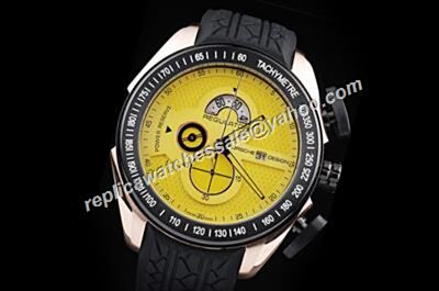 Porsche Design Regulator Power Reserve Chronograph Yellow 2-Tone Case Watch