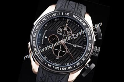Porsche Design Regulator Power Reserve Chronometer  Black Tachymeter Bezel Bezel fake Watch