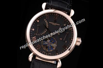 Vacheron Constantin Power Reserve Patrimony Date Tourbillon 44mmm Leather Strap Watch