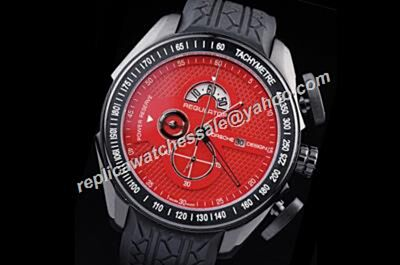 Porsche Design Regulator Power Reserve Chronograph Red Date Tachymeter Bezel Watch