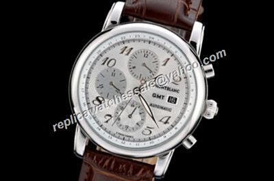 Montblanc Star GMT Automatic 2-TONE Chronograph Date 42mm Date Watch