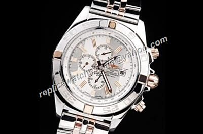Breitling Automatic 24 Hours 44mm Chronomat Day Date Rep SS Bracelet Watch