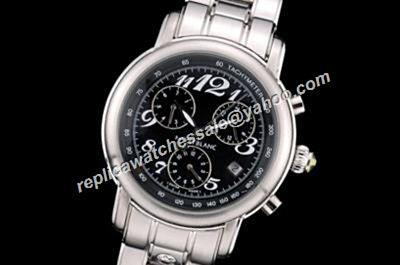 Montblanc 2-Tone Hands Chronograph Star White Gold SS Bracelet Day Date Watch Cheap Rep