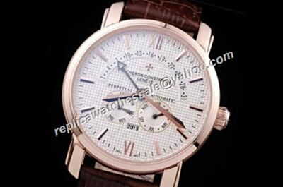 Vacheron Constantin Patrimony Perputal Calendar Rose Gold Bezel 44mm Watch