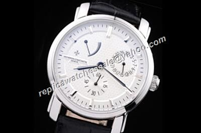 Replica Vacheron Constantin Power Reserve Malte 47200/000G-9019  Date Business Mens Watch