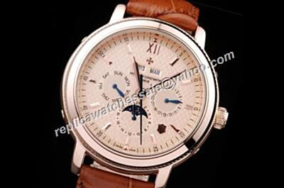 Vacheron Constantin  Moonphase Patrimony Perputal Calendar  24 Hours Rose Gold Watch