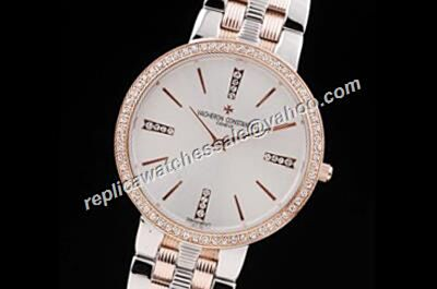 Rep Vacheron Constantin Daimond Set Patrimony V01R-9271 Rose Gold Jewelry Watch