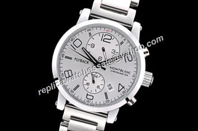 Montblanc Timewalker Flyback Chronograph TwinFly White Gold Bracelet Replica Watch