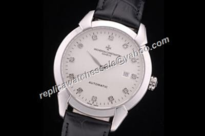 Vacheron Constantin  Patrimony Date Diamond Markers 40mm White Gold Watch CVC050