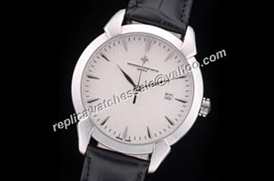 Vacheron Constantin Date Patrimony 40mm White Gold S/Steel Casual Watch CVC016
