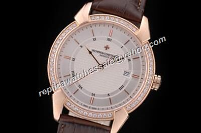 Fake Swiss Vacheron Constantin Diamonds Beael  QUAI DE L'ILE Date 41mm Luxury Watch CVC030