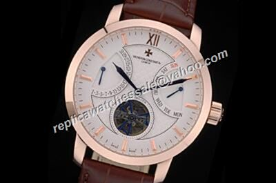 Vacheron Constantin Traditionnell  Tourbillon Patrimony Day Date Rose Gold Watch