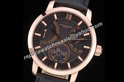 Vacheron Constantin Tourbillon Patrimony Day Date Rose Gold 45mm Casual Watch