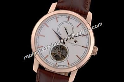 Vacheron Constantin Tourbillon 89600/000P-9878 Traditionnelle Automatic Brown Leather Strap Casual  Watch