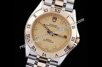 Swiss Rep Automatic Tudor Classic Date Diamond Mens 2-Tone 3D Bezel Watch