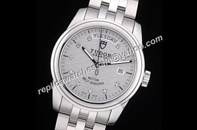 Swiss Tudor Classic Date Ref 23013-62113 18k White Gold Auto Watch