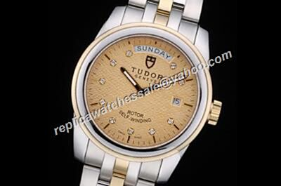Swiss Made Tudor Classic 21013-62583 10di Date Automatic  Diamonds Scale Watch Replica