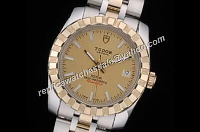 Gents Tudor Classic Datejust Yellow Gold Dial Swiss Auto 38mm Watch