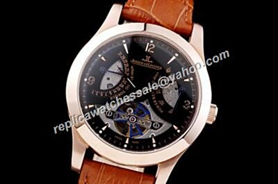 Jaeger-LeCoultre Master Tourbillon 43mm Date Rose Rold Bezel Automatic Watch JJ031