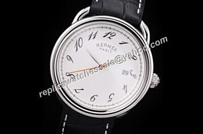 Hermes Arceau Ref 026854WW00 Swiss Made Auto White Gold 38mm Watch Replica HMS010