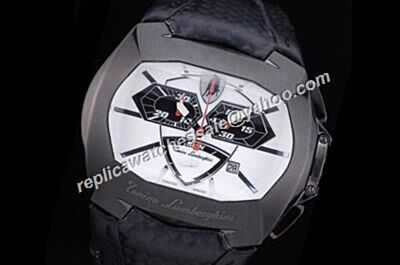 Tonino Lamborghini  Men's GT1 860S Chronograph Carbon Black Small Second Watch