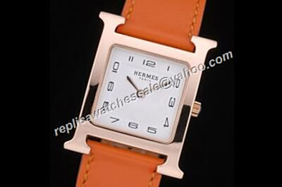 Hermes Heure H W036786WW00 Ladies Quartz Movement Rose Gold 26mm No Diamond Watch