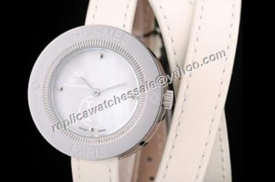 Women Hermes Ref PP1.410 Passe Passe White Gold SS Case Quartz Watch