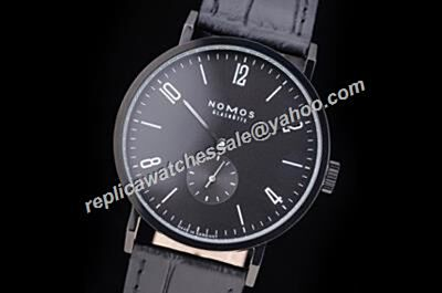 Faux Nomos Tangomat All Black NO Date Automatic 38.3mm Watch