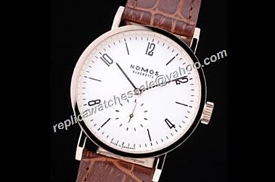 Nomos Tangomat 641 Automatic 38mm Rose Gold White Face Watch