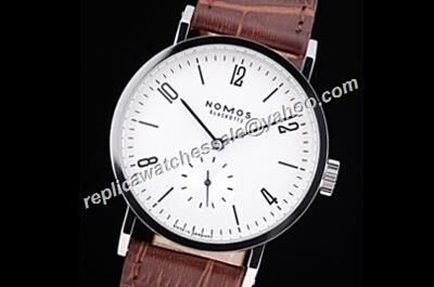 Cheap Nomos Tangomat 602 White Dial Auto MENS Transparent Back Watch