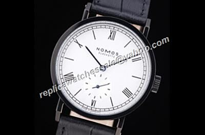 Nomos Tangomat 629 Gents Auto Black Strap NO Date Roman Scale Watch Replica