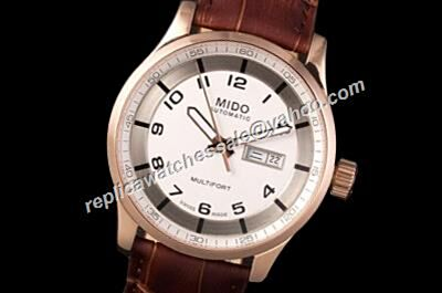 Mido Multifort Automatic 42mm Gents Brown Strap Day Date Watch