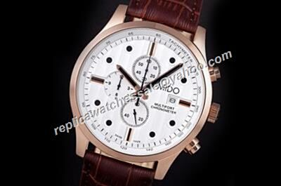 Mido Multifort Chronometer M005.614.36.031.00 Day Date Rose Gold Fake Watch