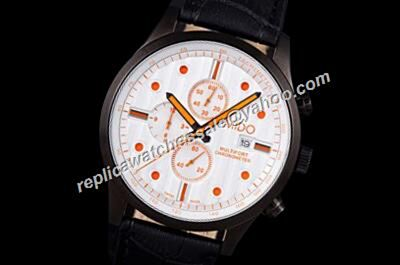 Mido Multifort Chrono  Ref M005.614.16.031.00 Black Bezel Orange Markers Watch