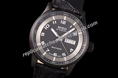 Mido Multifort Auto M005.430.16.052.00 Mne's Day Date Carbon Black 42mm Watch Rep