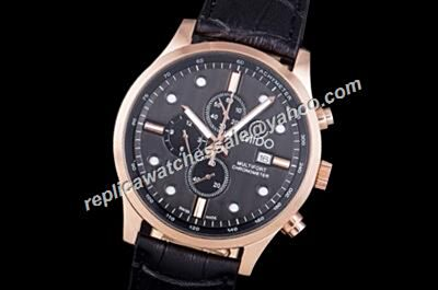 Low Price Mido Multifort Black M005.614.17.051.09 Date Chronometer Watch Replica