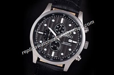Mido Multifort Chronograph Ref M005.614.16.057.21 Day Date Quartz White Gold Watch