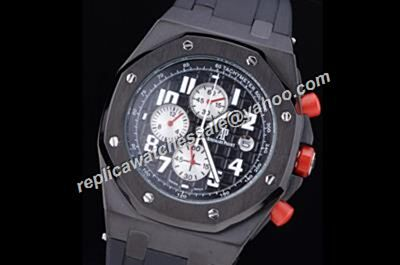 AP Singapore Gp 2008 Offshore Chronograph Limited Ceramic Black 2-Tone Boys Watch