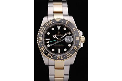 Luxury Rolex Gmt Master Ii Green Hand 18k  Stainless Steel 40mm Automatic Watch