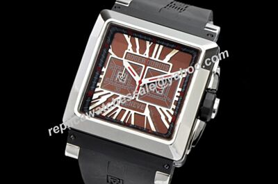 Cheap Rep Roger Dubuis KingSquare 40mm Chronograph Quartz Special Brown 24 Hours Watch