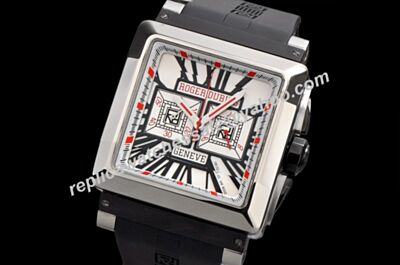 Copy Roger Dubuis KingSquare Chronograph RDDBKS0056 40mm  24 Hours White Gold Watch