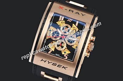 Jorg Hysek X-Ray Tourbillon Perpetual Calendar Rose Gold  Chrono Watch