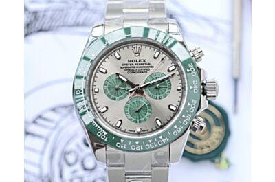 Classic Rolex Cosmograph Daytona Green Ceramic Solid Outer Ring Fully Automatic Mechanical Movement Watch