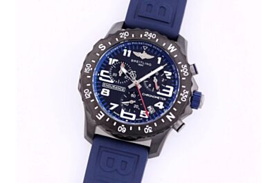 Breitling X82310D51B1S1 Professional Black Dial Blue Inner Dial Pulsometer Scale Rotatable Black Compass Bezel Watch Replica
