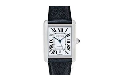 SSS Vintage Tank De Cartier Highlights Roman Hour Markers Stainless Steel Case Couple Watches