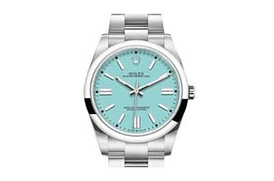AAA Replica Rolexe Oyster Perpetual Sky Blue Dial Parallel Bars Hour Markers Watch For Men 126000