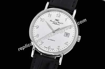 Swiss Movement IWC Portofino pure classic Automatic 40MM Learther Strap Watch IWC034