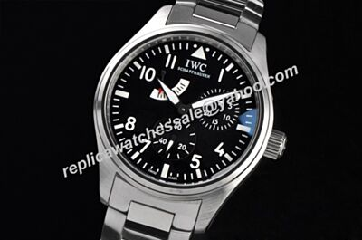 Iwc Pilot's Antoine de Saint Exupéry Automatic Power Reserve Steel Bracelet Watch